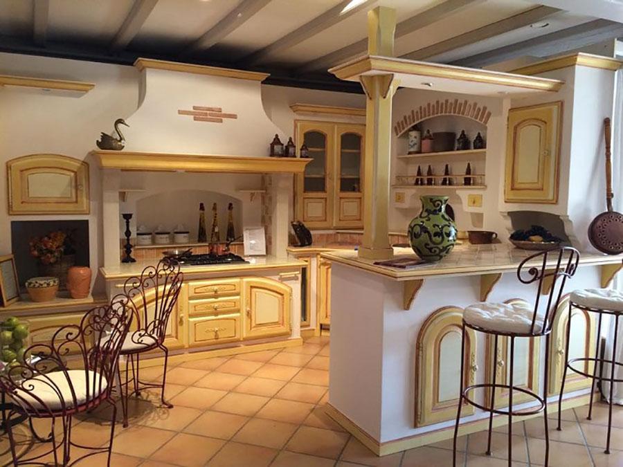 Modello di cucina provenzale in legno n.29