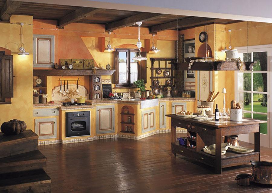 Modello di cucina provenzale in legno n.30