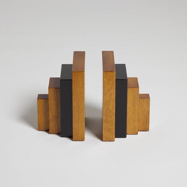 Fermalibri con legno assemblato