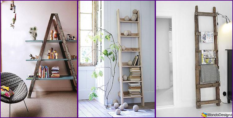 26 idee creative per riciclare vecchie scale for Oggetti di arredamento