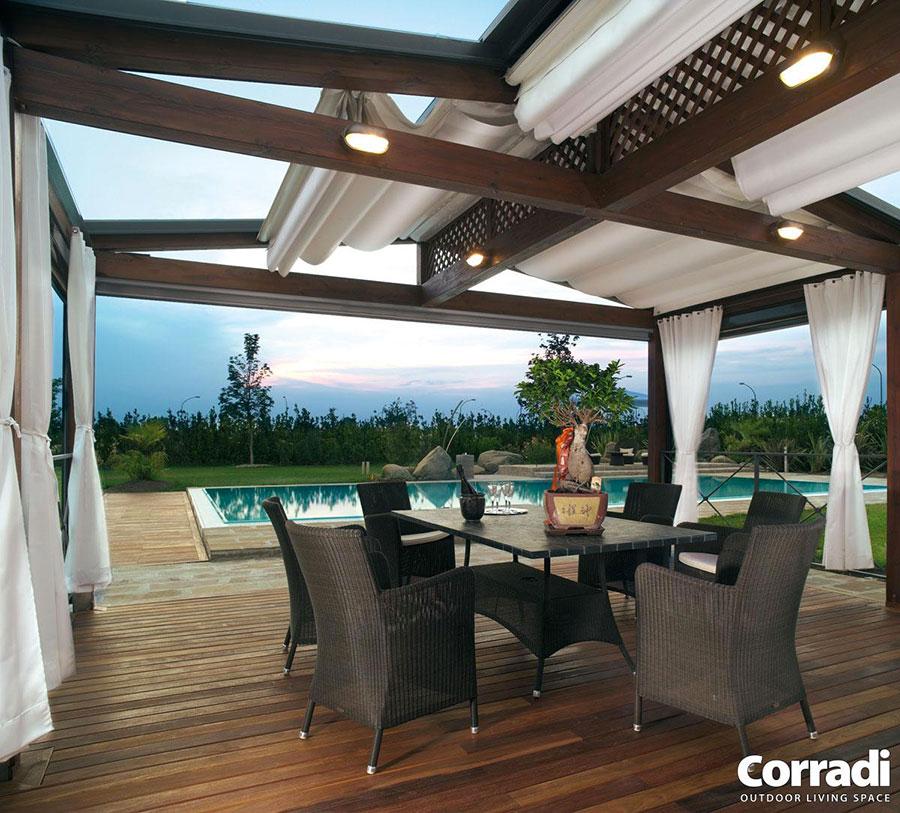 Pergolato in legno per giardini o terrazzi n.03