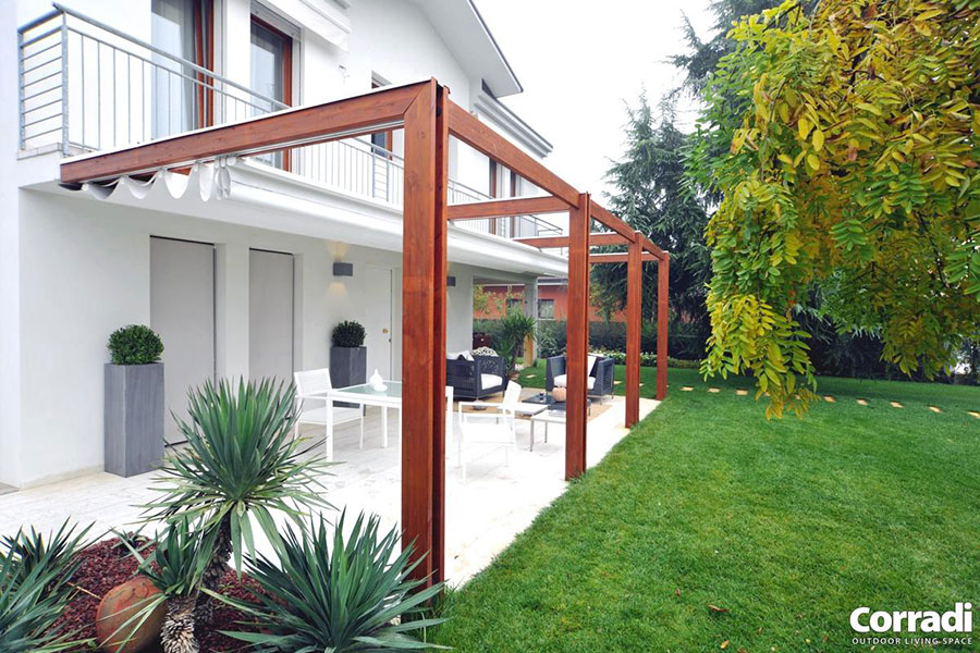 Pergolato in legno per giardini o terrazzi n.04