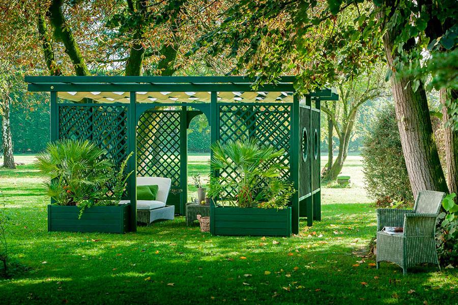Pergolato in legno per giardini o terrazzi n.07
