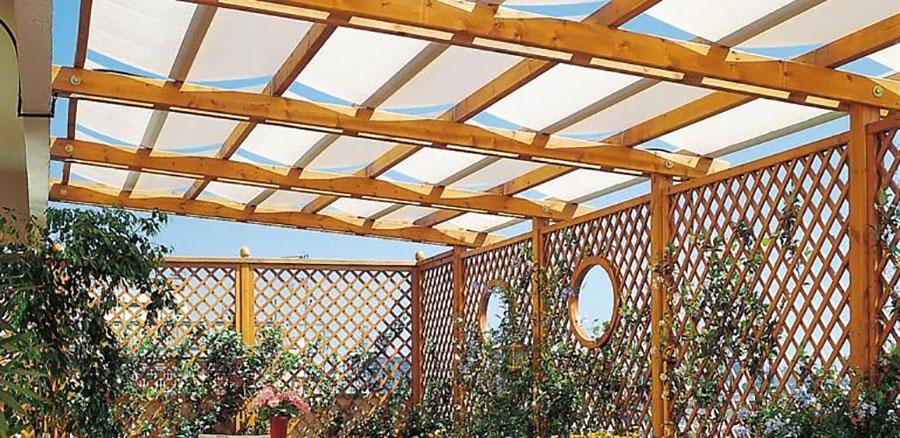 Pergolato in legno per giardini o terrazzi n.08