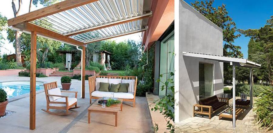 Pergolato in legno per giardini o terrazzi n.10