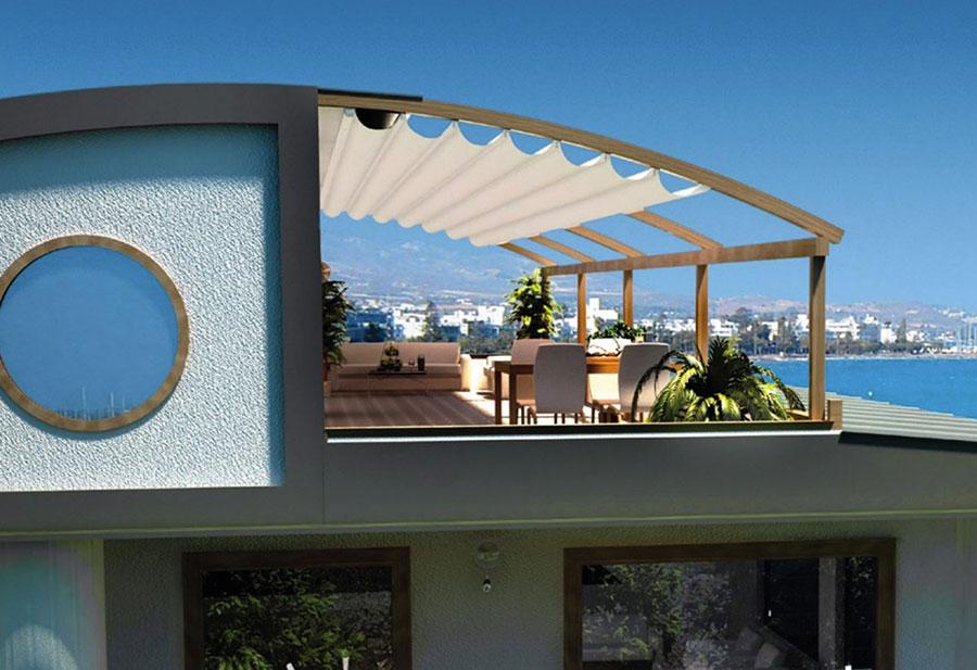 Pergolato in legno per giardini o terrazzi n.15