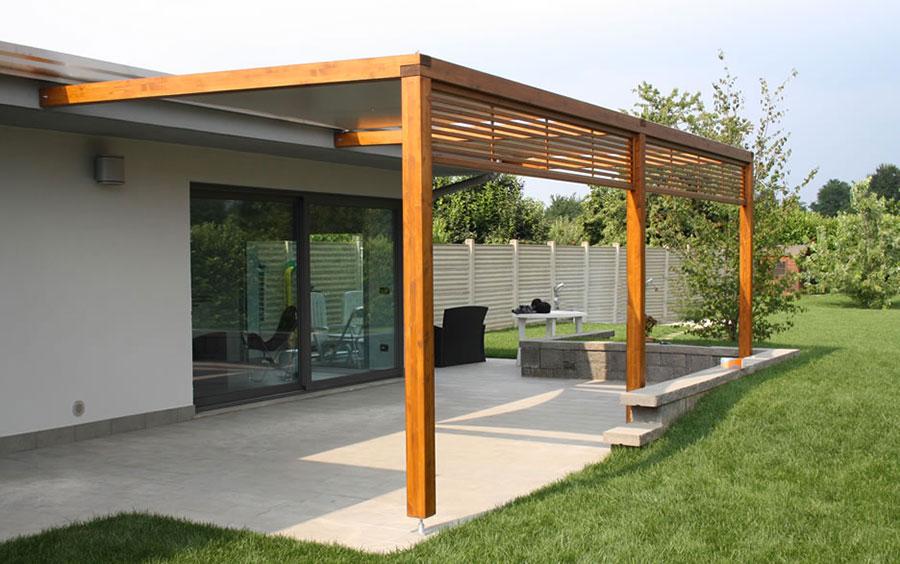 Pergolato in legno per giardini o terrazzi n.16