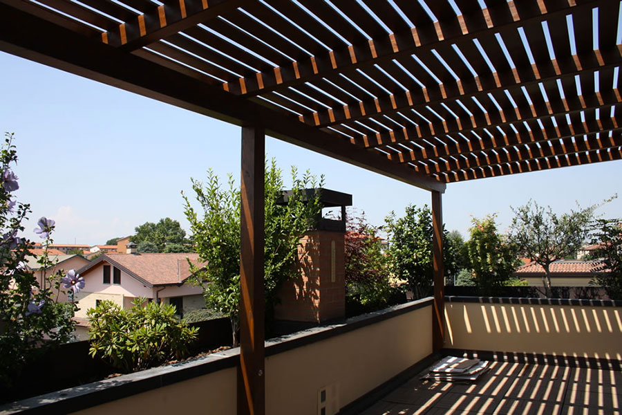 Pergolato in legno per giardini o terrazzi n.17