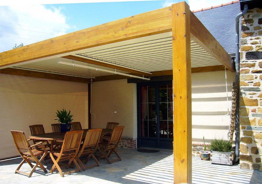 Pergolato in legno per giardini o terrazzi n.18