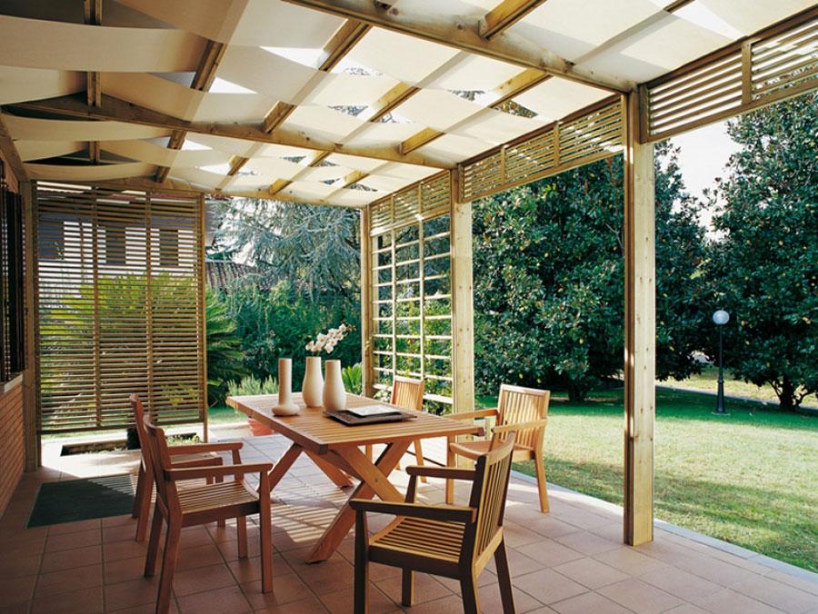 Pergolato in legno per giardini o terrazzi n.23