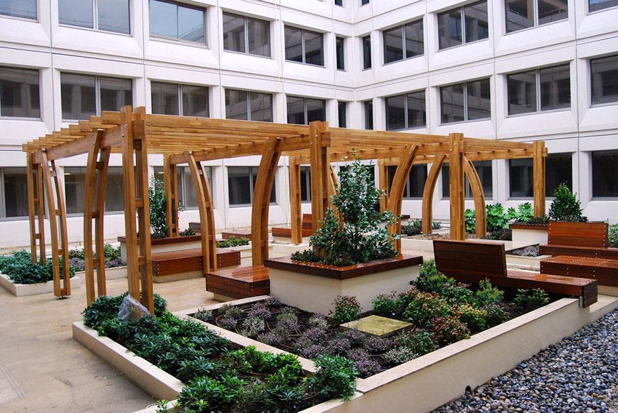 Pergolato in legno per giardini o terrazzi n.27