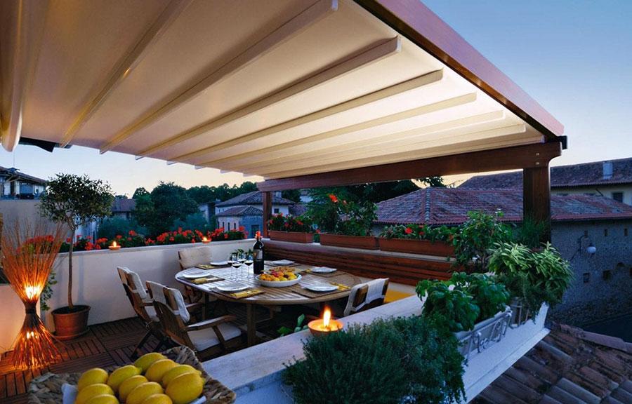 Pergolato in legno autoportante per giardini o terrazzi n.31