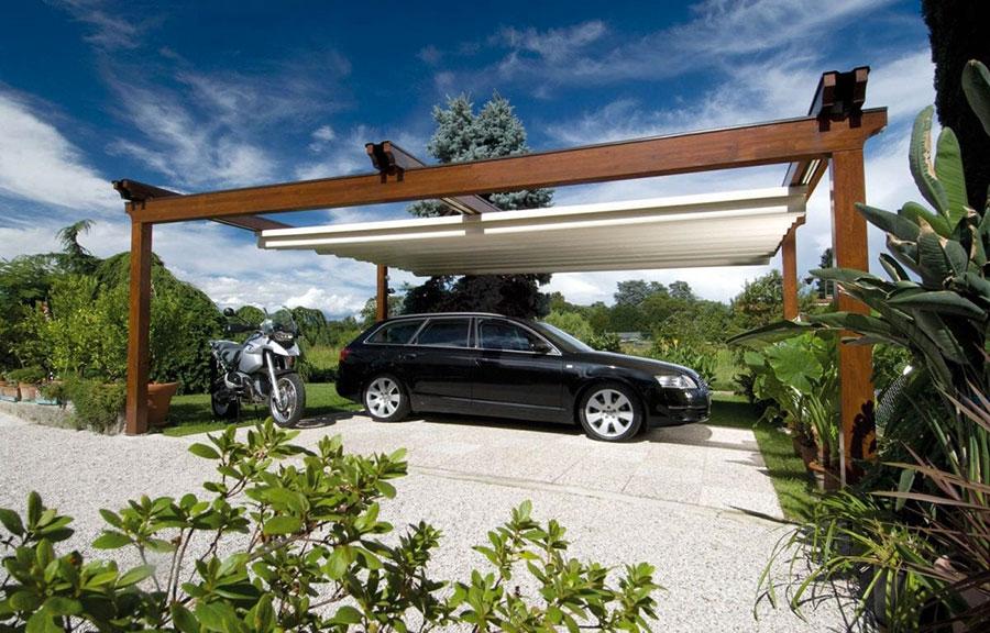 Pergolato in legno autoportante per giardini o terrazzi n.32
