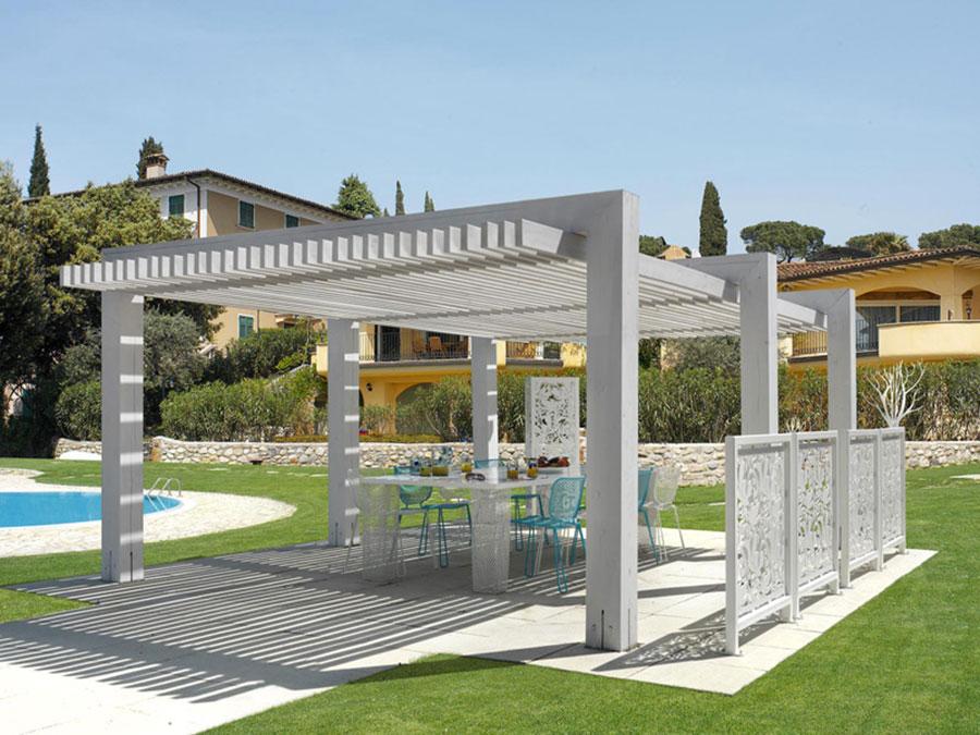 Pergolato in legno autoportante per giardini o terrazzi n.34