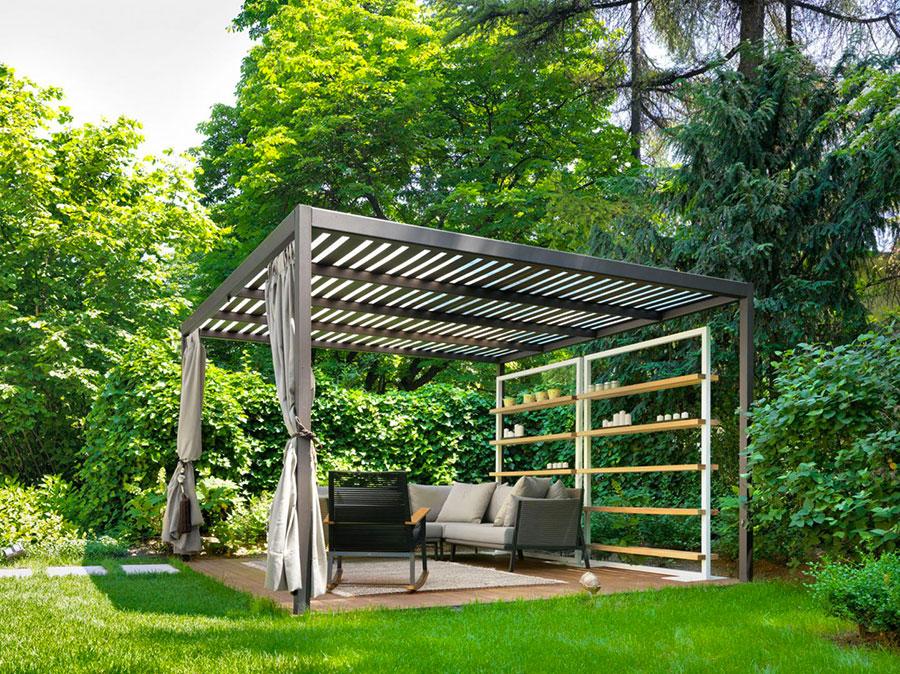 Pergolato in legno autoportante per giardini o terrazzi n.35