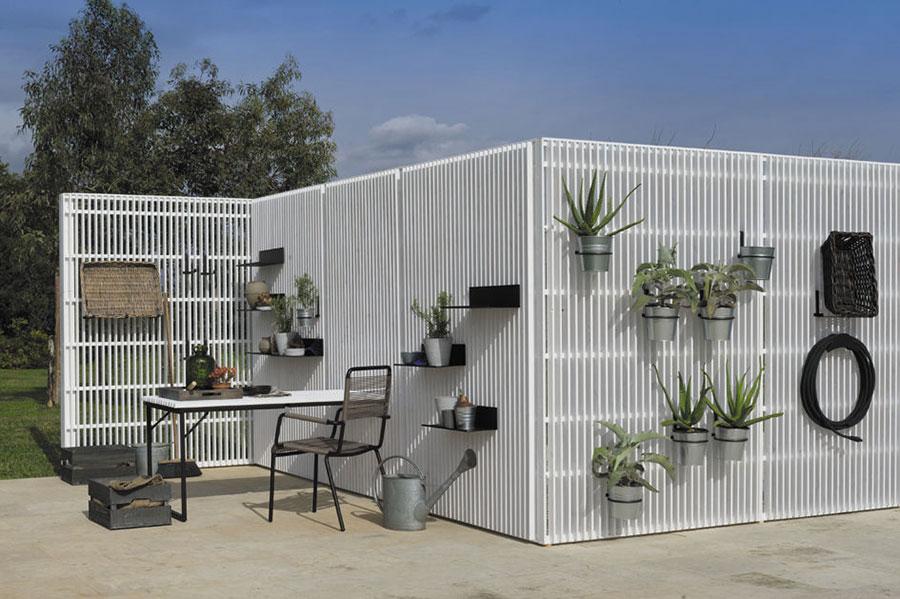 Modello di recinzione in legno per giardino n.01