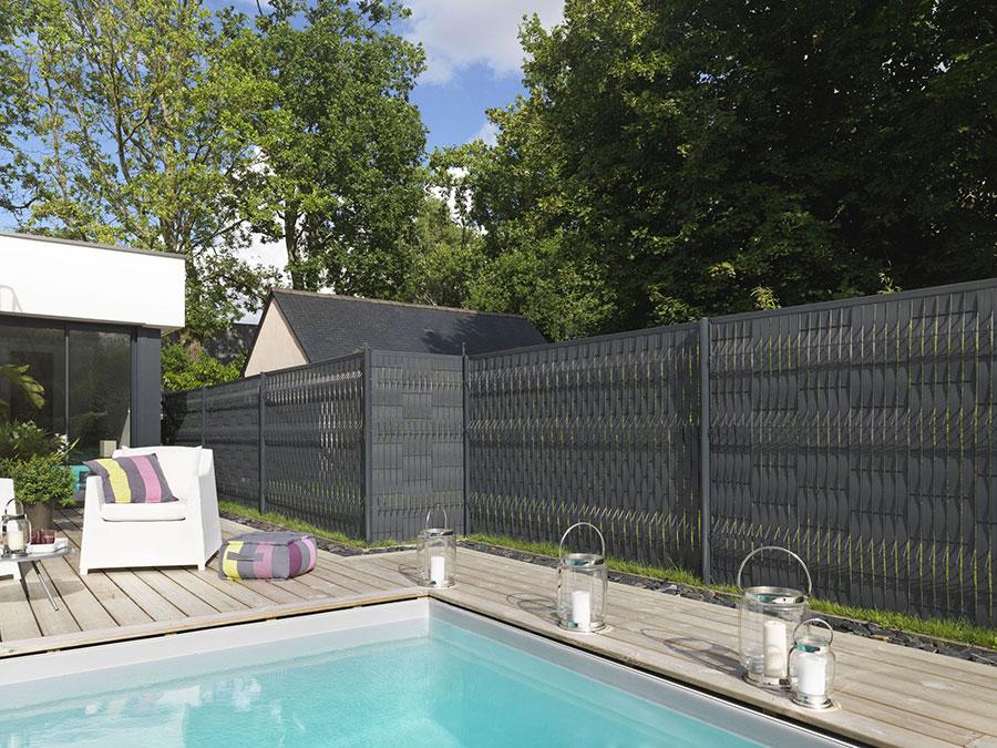 Modello di recinzione in legno per giardino n.05