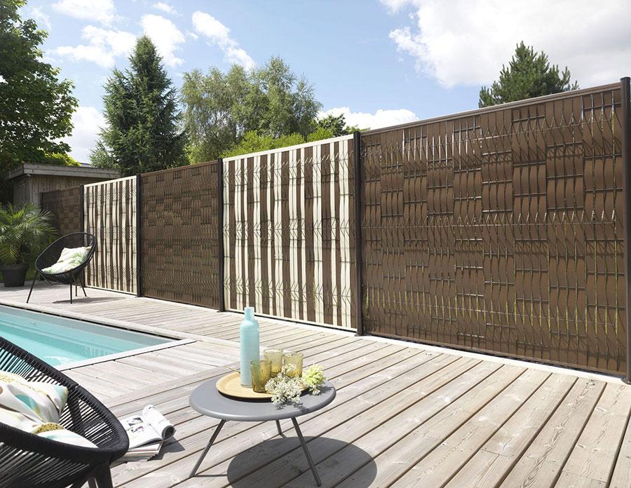 Modello di recinzione in legno per giardino n.06