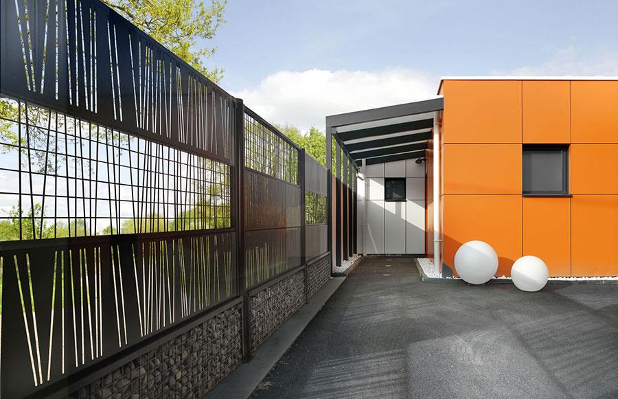 Modello di recinzione in legno per giardino n.07