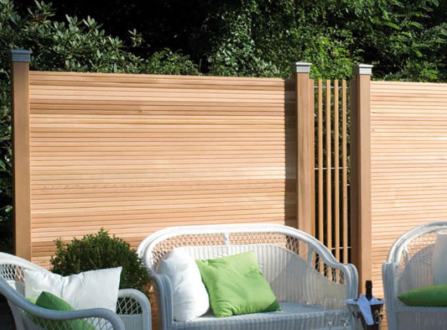 Modello di recinzione in legno per giardino n.15