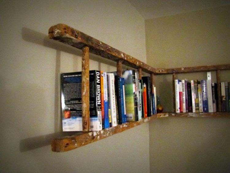 Come creare librerie riciclando vecchie scale n.02