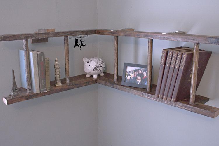 Come creare librerie riciclando vecchie scale n.04