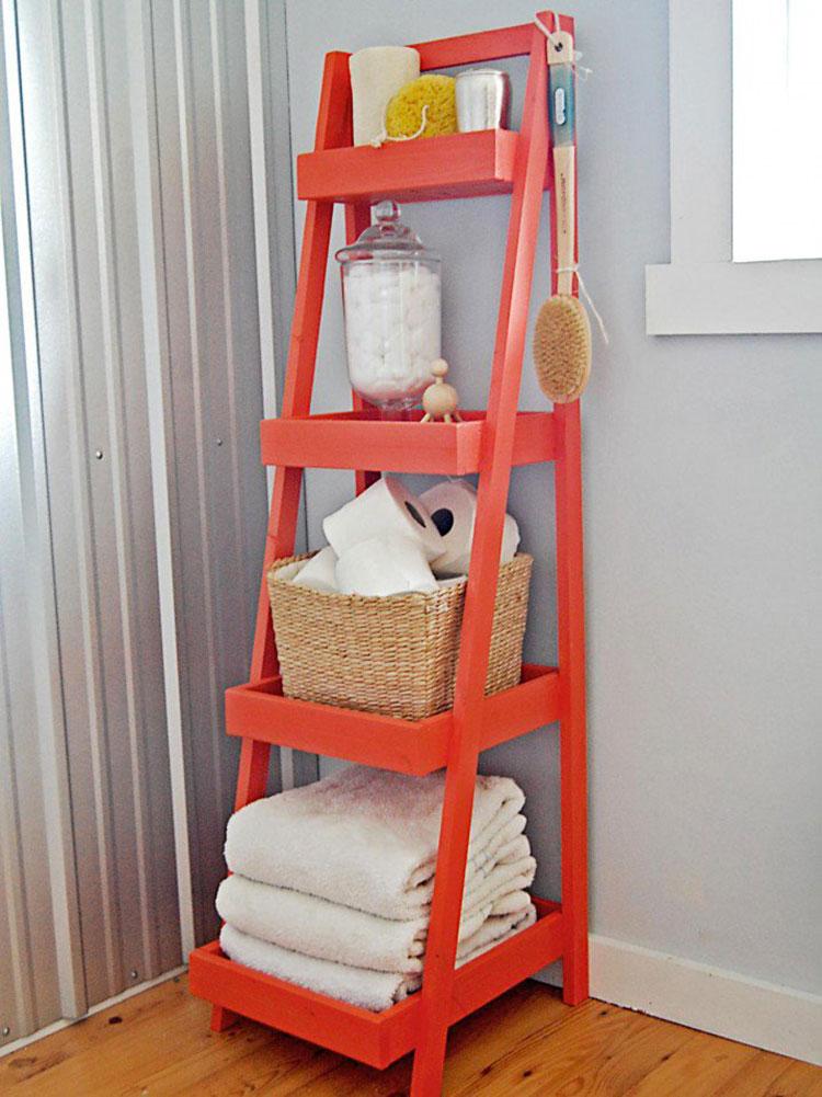 Come creare mobili bagno riciclando vecchie scale n.01