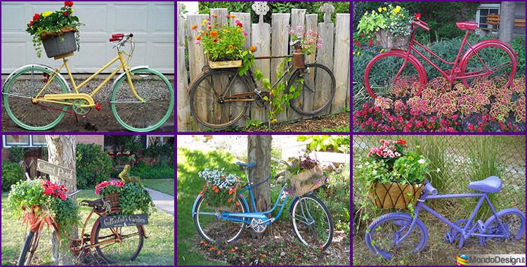 Come decorare il giardino riciclando vecchie biciclette for Cose per il giardino