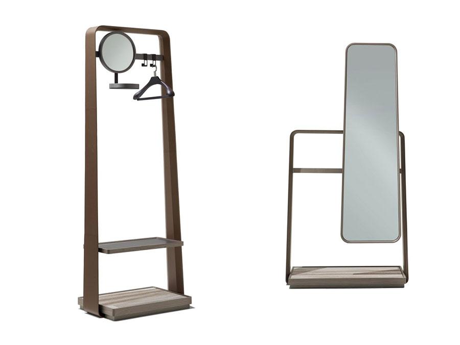 Modello di appendiabiti moderno con specchio n.02