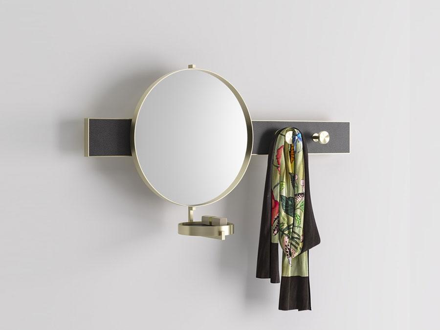 Modello di appendiabiti moderno con specchio n.05