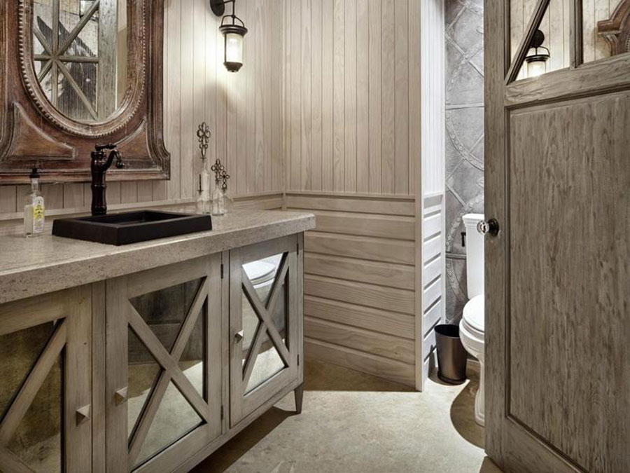 Bagno country chic 20 bellissime idee di arredo - Mobili country bagno ...