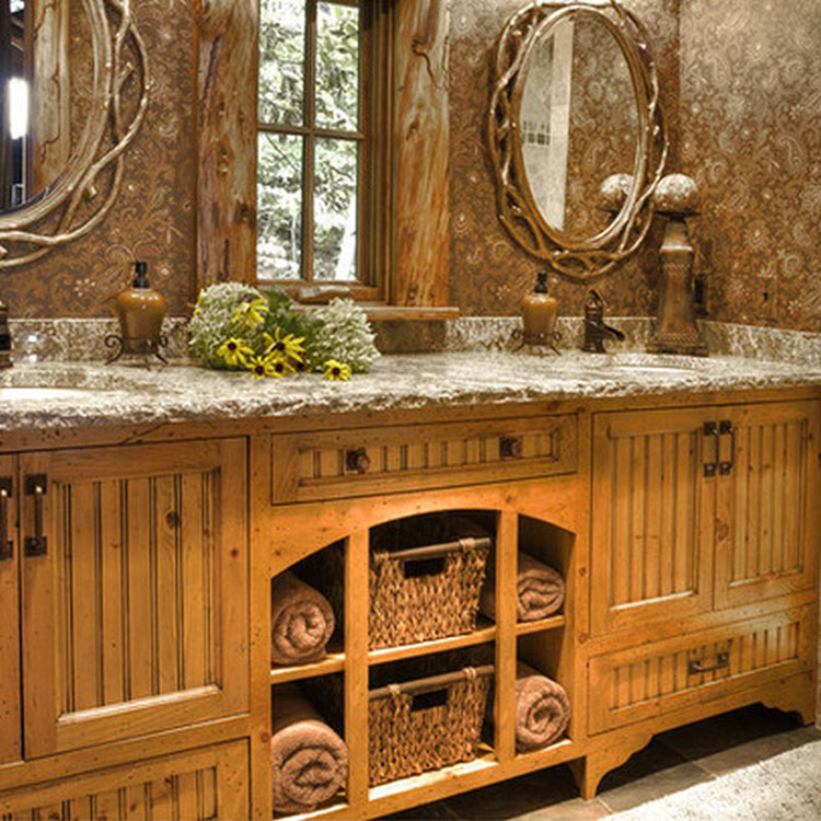 Bagno country chic 20 bellissime idee di arredo for Bathroom designs rustic