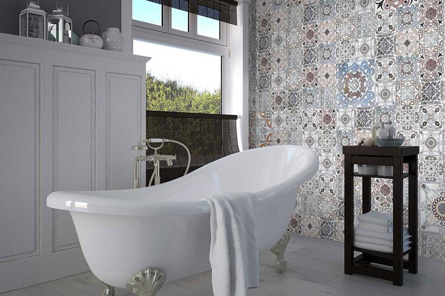 Idee per arredare un bagno vintage n.17