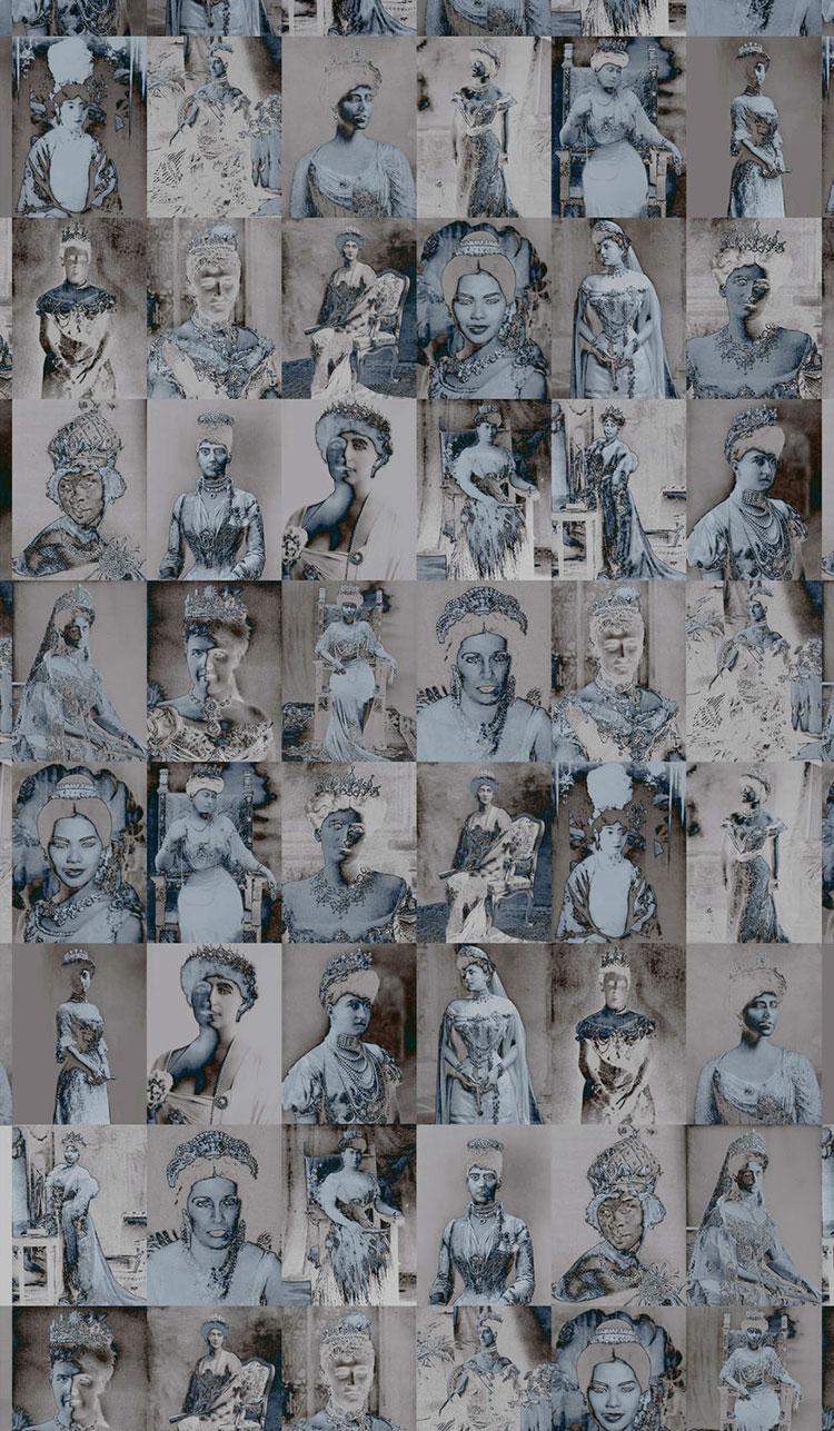 Modello di carta da parati in stile vintage n.15
