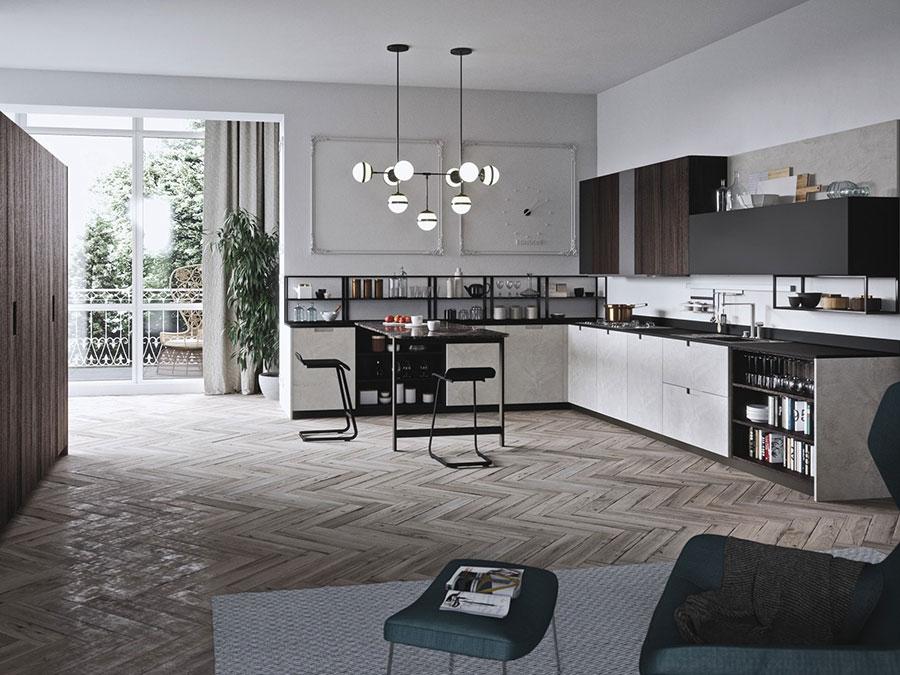 Modello di cucina ad angolo di Alta Cucina n.03