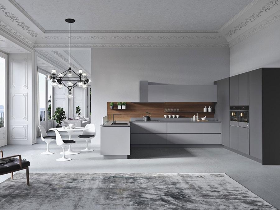 Modello di cucina ad angolo di Alta Cucina n.04