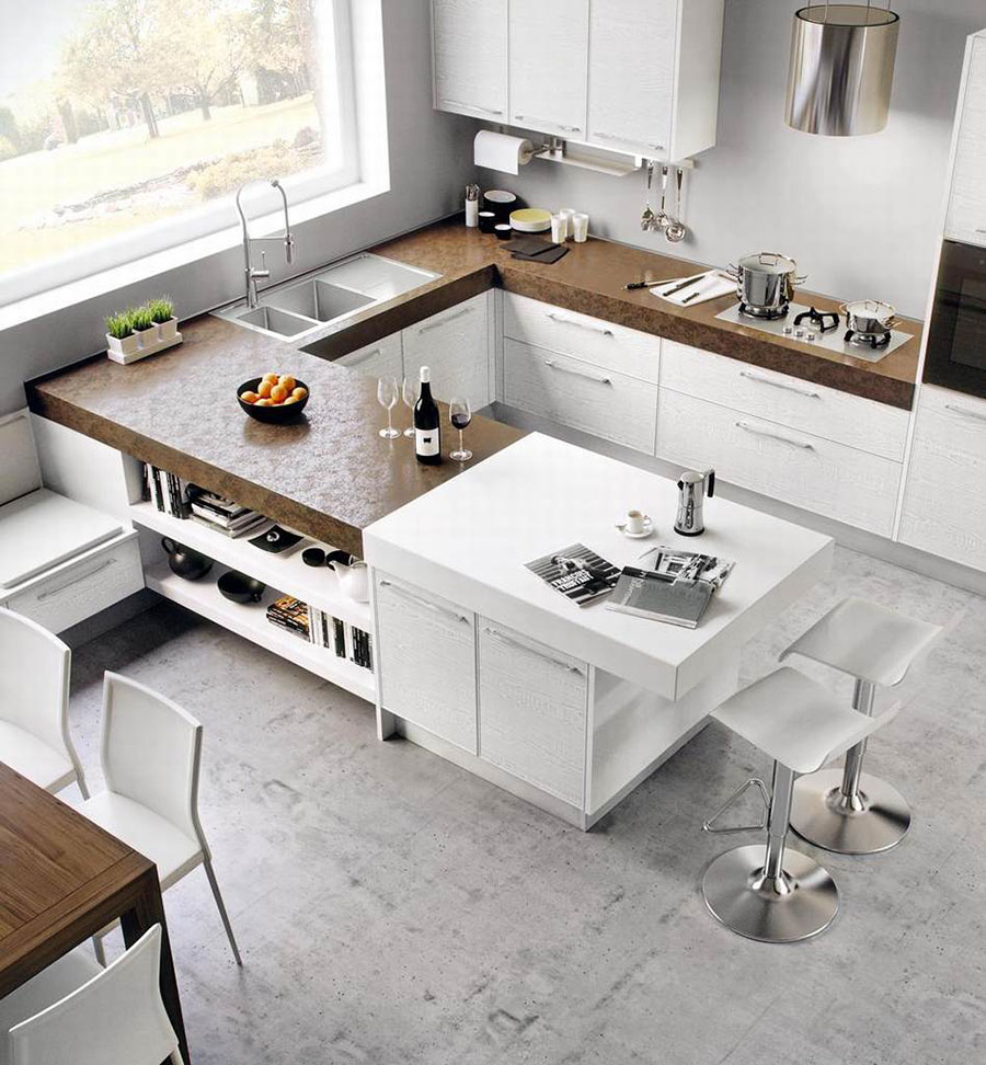 Le pi belle cucine ad angolo moderne delle migliori - Cucine componibili bianche ...