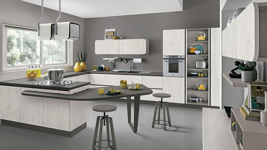 Modello di cucina ad angolo Lube n.07