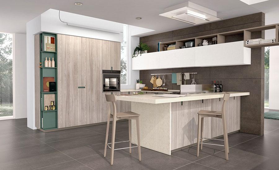 Modello di cucina ad angolo Lube n.08