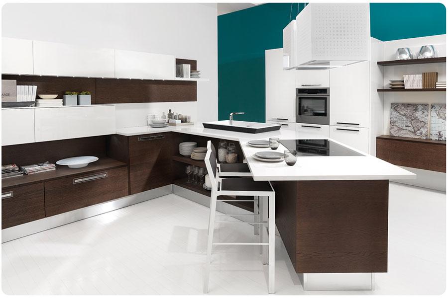Modello di cucina ad angolo Lube n.10