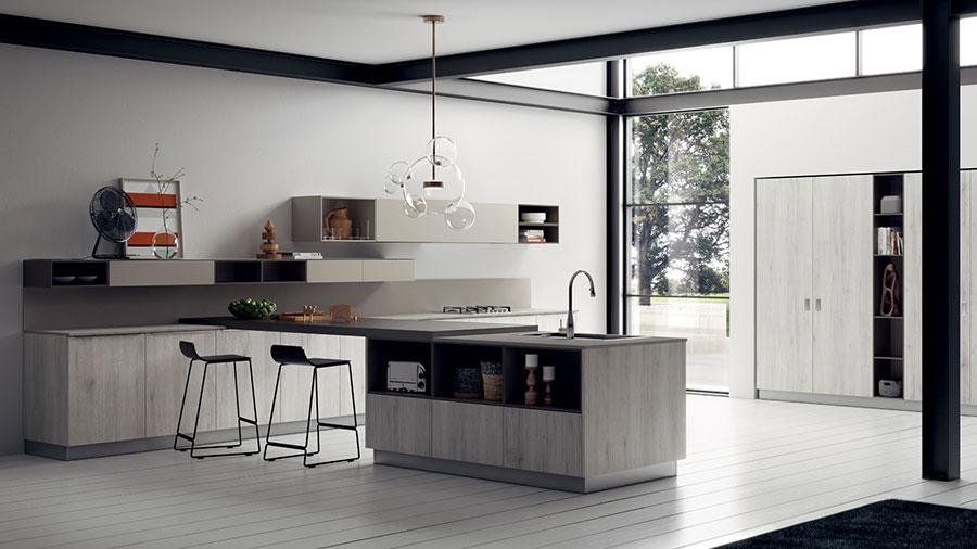 Modello di cucina ad angolo Scavolini n.08