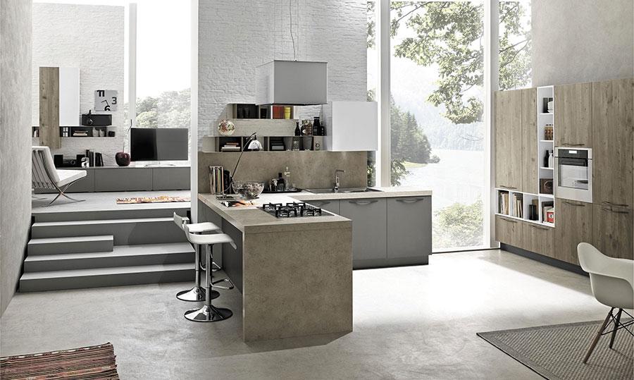 Modello di cucina ad angolo Stosa n.09