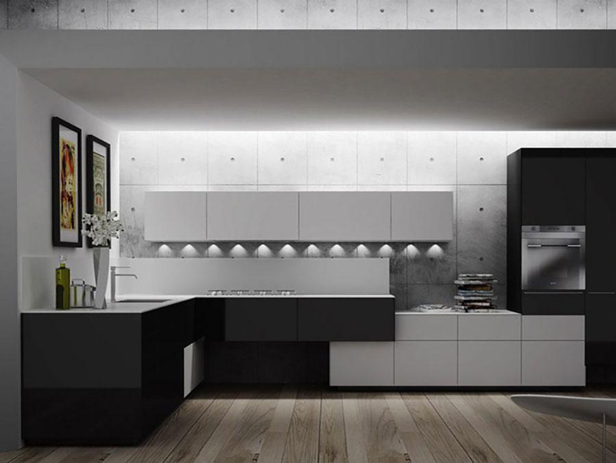 Modello di cucina ad angolo di Valcucine n.01