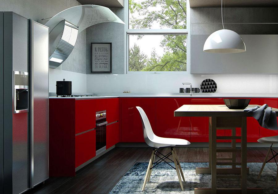 Modello di cucina ad angolo Valcucine n.03