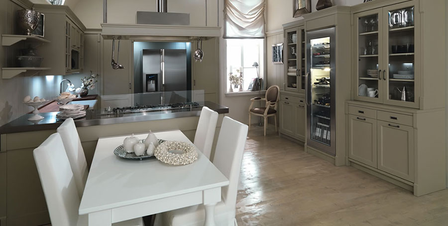 Cucina country chic in stile romantico n.02
