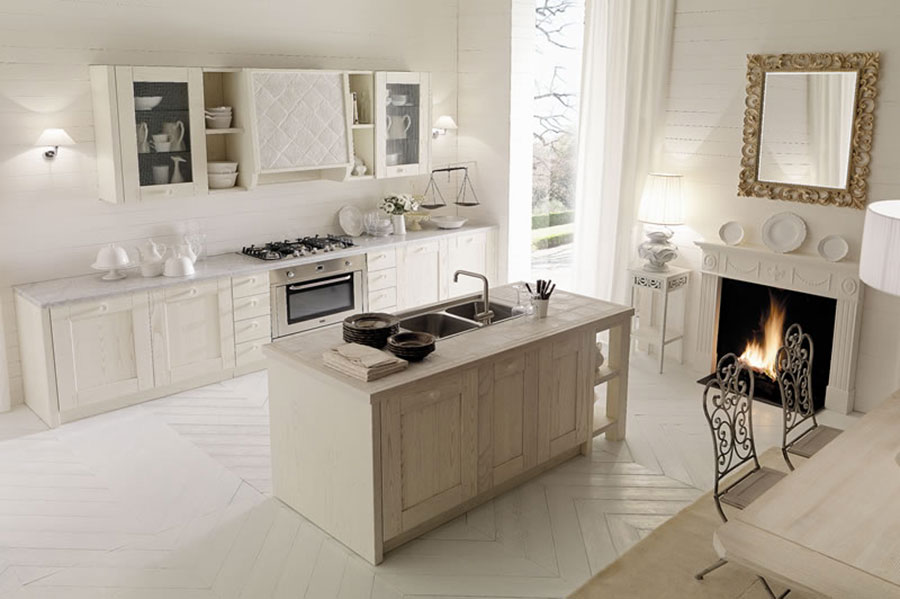 Cucina country chic in stile romantico n.03