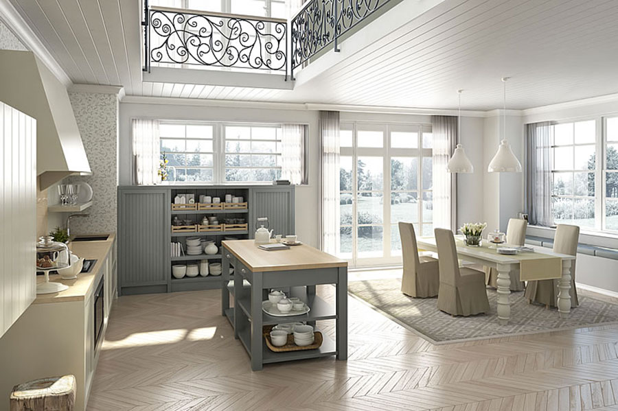 Cucina country chic in stile romantico n.05