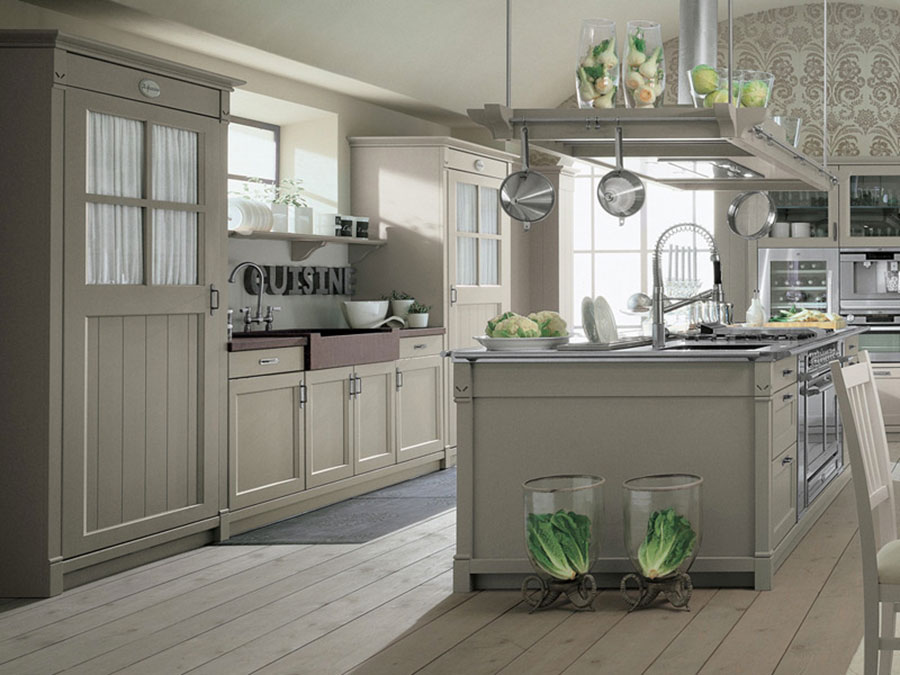 Cucina country chic in stile romantico n.07