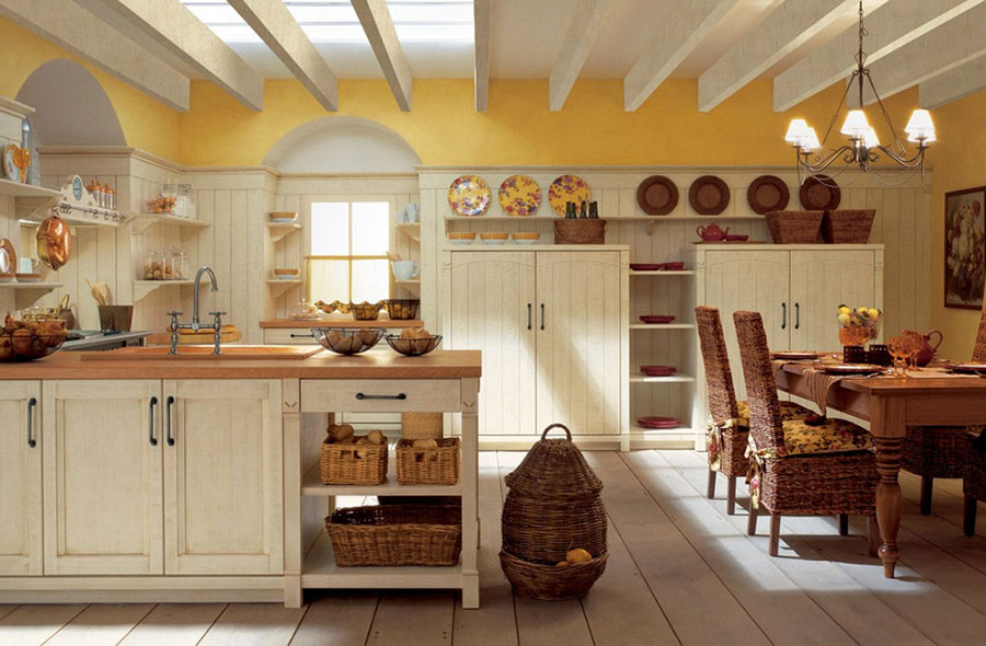 Cucina country chic in stile romantico n.08