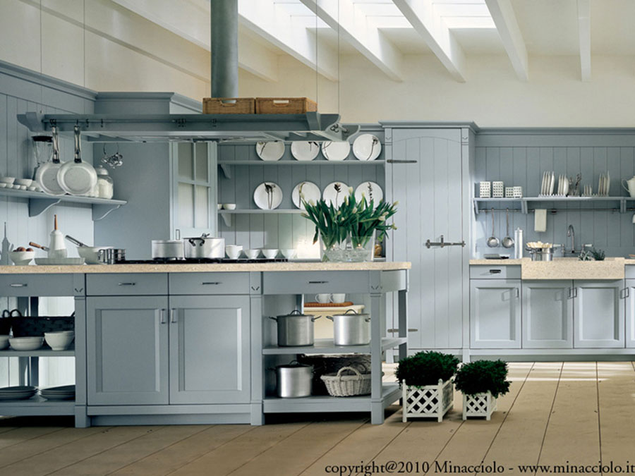 Cucina country chic in stile romantico n.09